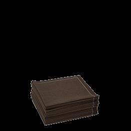 Stoffservietten 2-faltig schokolade 20 x 20 cm (30 Stück)