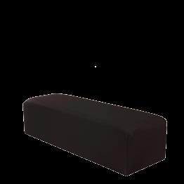 Sitzkissen rechteckig mit schwarzer Husse  50 x 150 cm H 40 cm