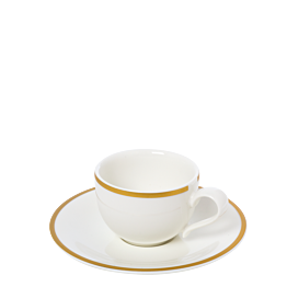 Espressotasse mit Unterteller Luxor 8 cl