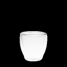 Glas mit Doppelwand Ø 6 cm H 6 cm 8 cl