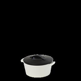 Kokotte schwarz und weiss Ø 10 cm 20 cl