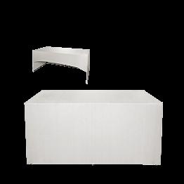 Buffet klappbar mit weisser Husse 3 Seiten abgedeckt 100x200 cm