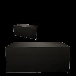 Buffet klappbar mit schwarzer Husse 4 Seiten abgedeckt 100x200cm