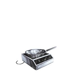Induktionsplatte kleines Modell + Wok