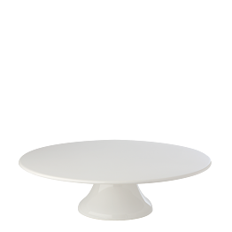 Porzellanplatte mit Fuss Ø 35 cm H 10 cm
