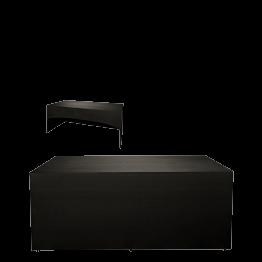 Buffet klappbar mit schwarzer Husse 3 Seiten abgedeckt 80x200cm