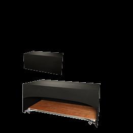 Buffet klappbar mit schwarzer Husse 80 x 100 cm 3 Seiten abgedeck