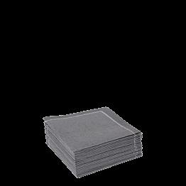 Stoffservietten 2-faltig anthrazit 20 x 20 cm  (30 Stück)