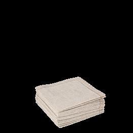 Stoffservietten 2-faltig nature 10 x 10cm  (30 Stück)