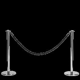 Abschrankungsständer Inox H 100 cm