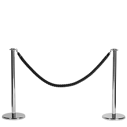 Abschrankungsseil schwarz  L 200 cm