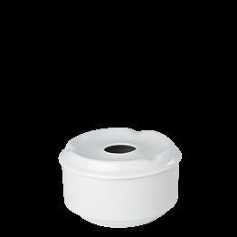 Aschenbecher rund mit Deckel Porzellan  Ø 10 cm H 6 cm