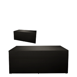 Buffet klappbar mit schwarzer Husse 4 Seiten abgedeckt 80 x 200cm