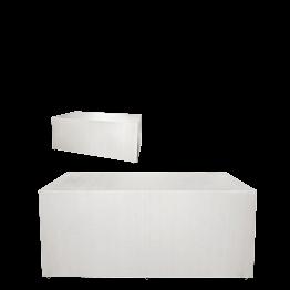 Buffet klappbar mit weisser Husse 4 Seiten abgedeckt 80x200cm