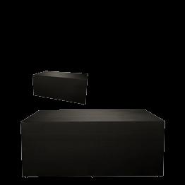 Buffet klappbar mit schwarzer Husse 80 x 100 cm 4 Seiten abgedeck