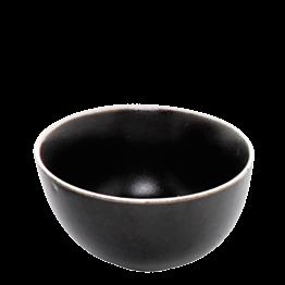 Bowl dunkelgrau mit weissem Rand Ø 12 cm 35 cl