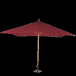 Sonnenschirm Louisiane rot + Stahlsockel 30 x 30 cm