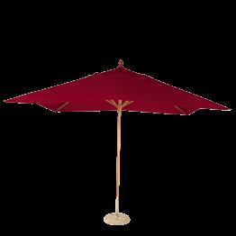 Sonnenschirm Louisiane rot + Granitsockel Ø 50 cm