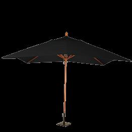 Sonnenschirm Louisiane schwarz + Stahlsockel 30 x 30 cm