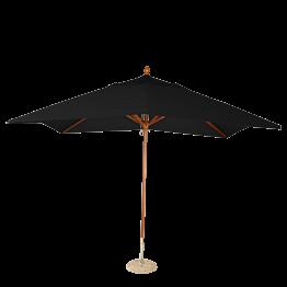 Sonnenschirm Louisiane schwarz 300 x 300 cm + Granitsockel Ø 50cm