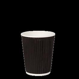 Pappbecher Karbon gross 23 cl (per 40 Stück)