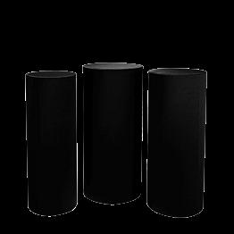 Stehtischen Zylinder mit Husse schwarz H 110 -112 - 114 (3er Set)
