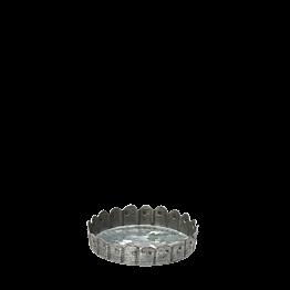 Zink-Kerzenhalter mit Pünktchenmuster H 1,5 cm Ø 8 cm