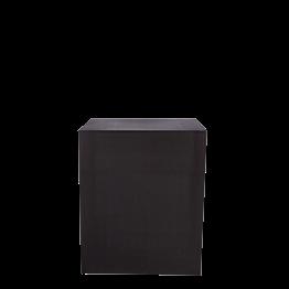 Buffet Cube Lycra schwarz auf Rollen 70 x 100 H 110 cm