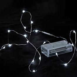 Girlande mit 12 LED in Form von Wassertropfen, weiss kaltes Licht