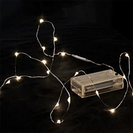 Girlande mit 12 LED in Form von Wassertropfen, weiss warmes Licht