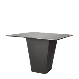 Tisch Kegel schwarz Oberfläche schwarz 140 x 140 cm H 112 cm
