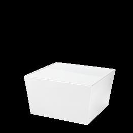 Tisch tief Kegel weiss, mit Oberfläche Acryl weiss