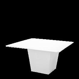 Tisch Kegel weiss Platte weiss 140 x 140 cm H 75 cm