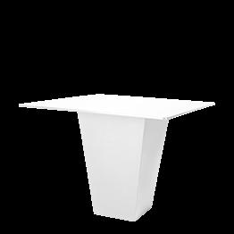 Tisch Kegel weiss Oberfläche weiss 140 x 140 cm H 112 cm