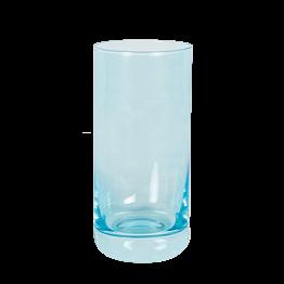 Longdrinkglas blau fluoreszierend