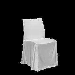 Stuhl Opal mit weissen Bezug