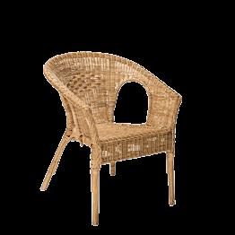 Sessel aus Rattan H 79 cm