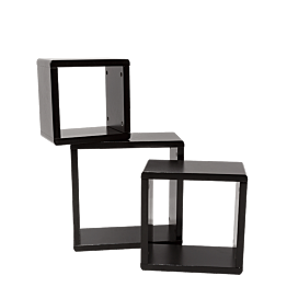 Aufsätze schwarz 39 cm, 3er-Pack