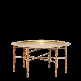 Niedriger, runder Tisch gold Ø 89 H 48 cm