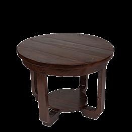 Niedriger, runder Holztisch Ø 60 H 45 cm