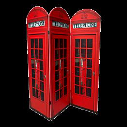 Paravent englische Telefonkabine 150 x 170 cm