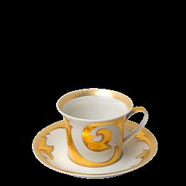 Kaffee-/Teetasse mit Unterteller Versace 25 cl
