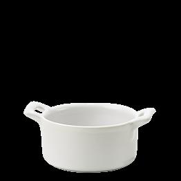 Mini-Kochtopf aus Porzellan weiss Ø 7,2 cm H 3,5 cm 8 cl
