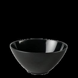 Salatschüssel Kunstharz schwarz Ø 28 cm H 15,5 cm 380 cl