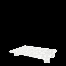 Plexiglas-Tablett für Bubbles mit Ständer 55 x 35 cm H 8 cm