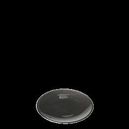 Brotteller Glas schwarz Ø 14cm