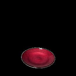 Brotteller Glas Rot Ø 14cm