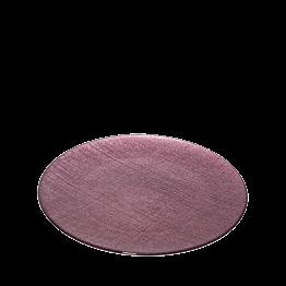 Platzteller Glas pflaumenfarbe Ø 32 cm
