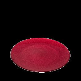 Platzteller Glas rot Ø 32 cm