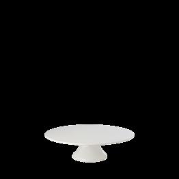 Porzellanplatte mit Fuss Ø 22,5 cm H 7 cm